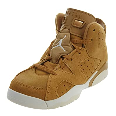 size 40 b6881 a01b5 Amazon.com   Jordan Nike Air 6 Retro Ps  Wheat    Sneakers