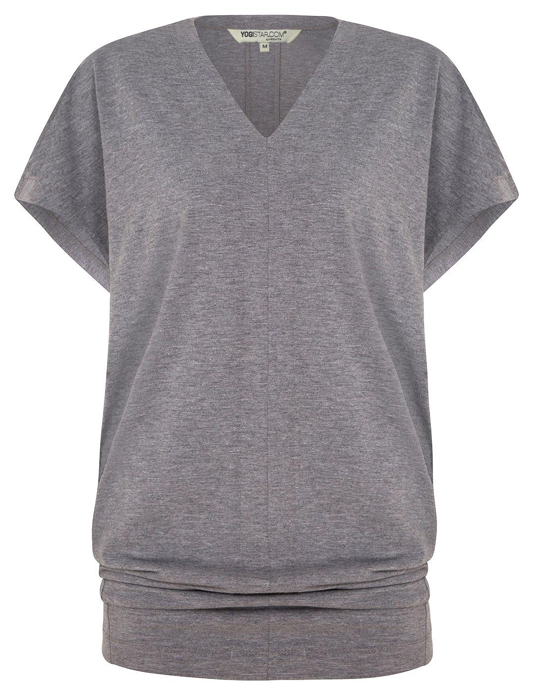 Yogistar Yoga-t-Shirt Freedom - Pale Grau Marl
