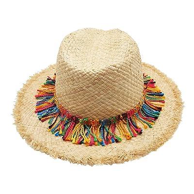 bainuote Chapeau d'été chapeau pliable été chapeaux pour femme Plage d'Été Chapeaux fil tressé Chapeau de paille Wide Brim Casquette Chapeau d'Été style Bohemia C