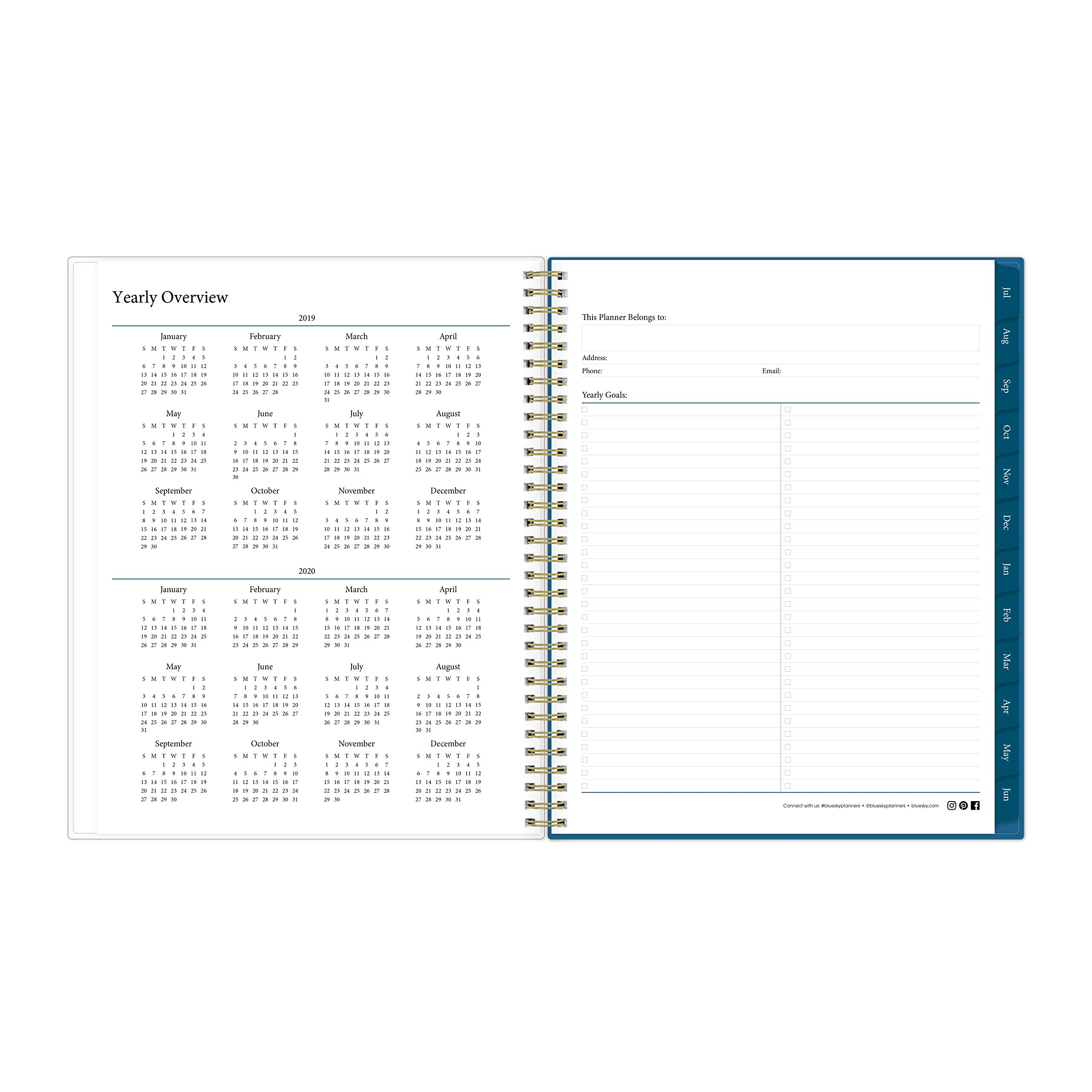 Blue Sky 2019-2020 Academic Year Weekly & Monthly Planner, Flexible Cover, Twin-Wire Binding, 8.5'' x 11'', Bakah Blue by Blue Sky (Image #5)