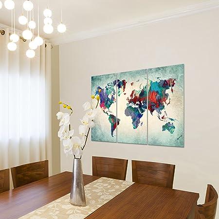 dreiteilig Leinwand Wandbilder Bilder Abstrakt Deco Türkis je 40cm*80cm 29
