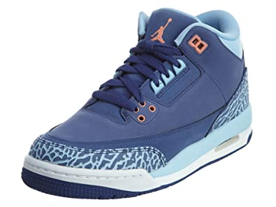 828be116ca15 Jordan AIR JORDAN 3 RETRO GG girls basketball-shoes 441140-506 8Y - DK  PURPLE