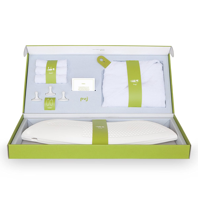 Amazon.com : Puj Infant Bath Gift Set, White, Newborn to 6 Months ...