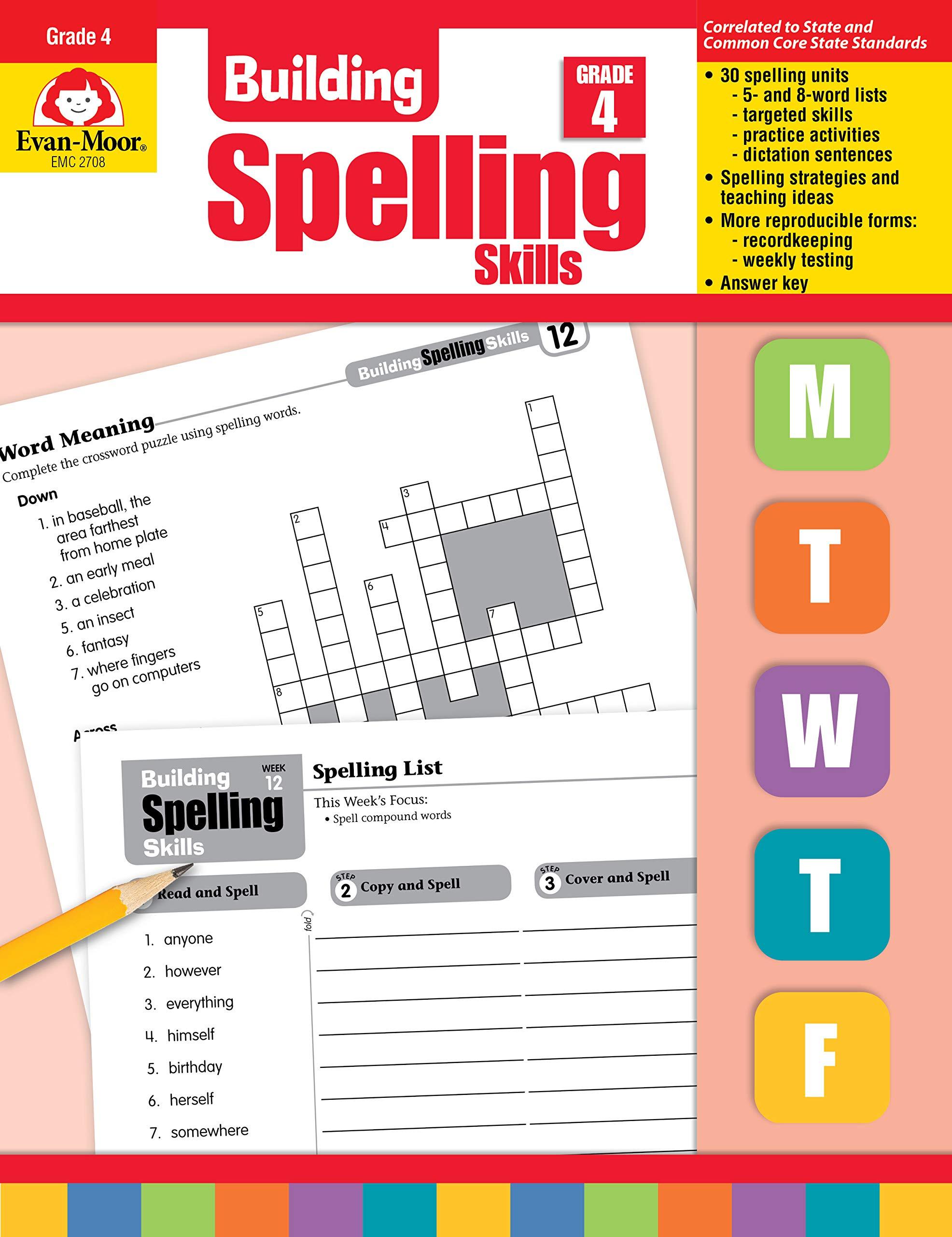 Building Spelling Skills, Grade 4: Amazon ca: Evan-Moor Educational