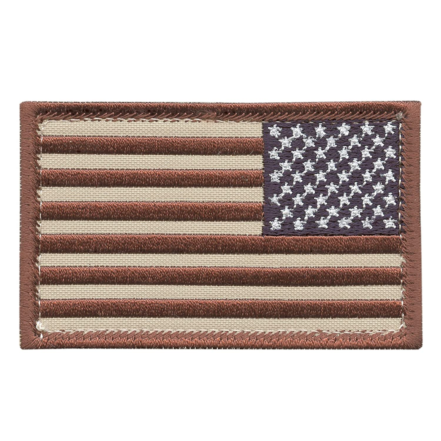 Desert USA American Reversed Flag AOR1 ISAF Morale Tactical Touch Fastener Patch 2AFTER1 P.1416.1.V