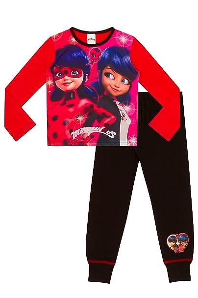 ThePyjamaFactory - Pijama - para niña Rojo rosso 10 años