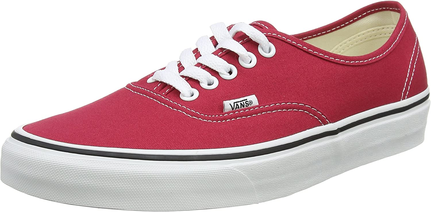 Vans Authentic, Baskets Mixte Adulte Rouge Crimson True White Q9u
