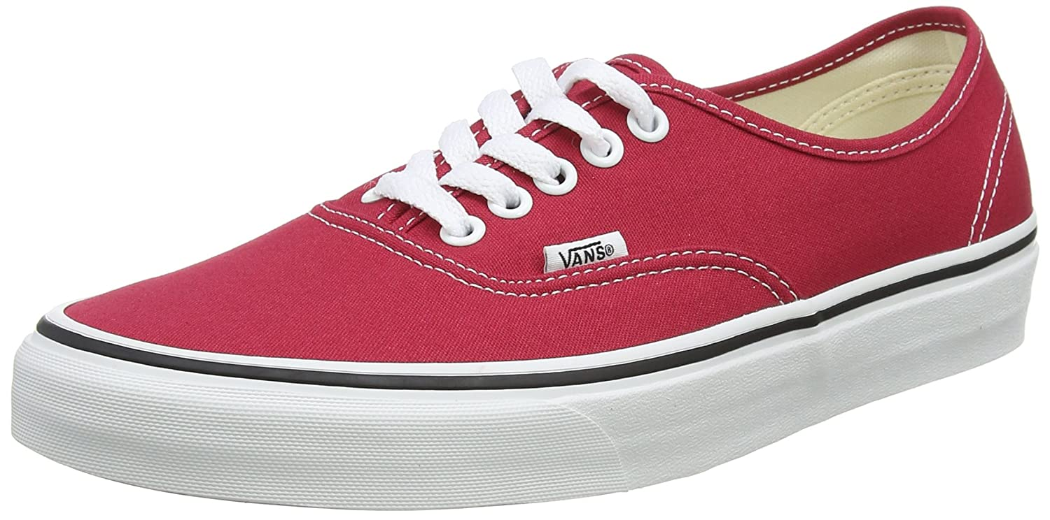 Vans Unisex-Erwachsene Authentic Sneaker  345 EU|Rot (Crimson/True White Q9u)