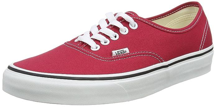 Vans Authentic Sneaker Erwachsene Unisex Rot Crimson