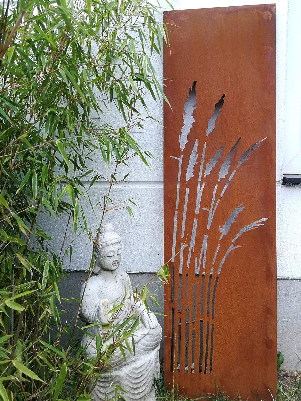 Amazon De Zen Man Edelrost Garten Sichtschutz Aus Metall 1mm Rost