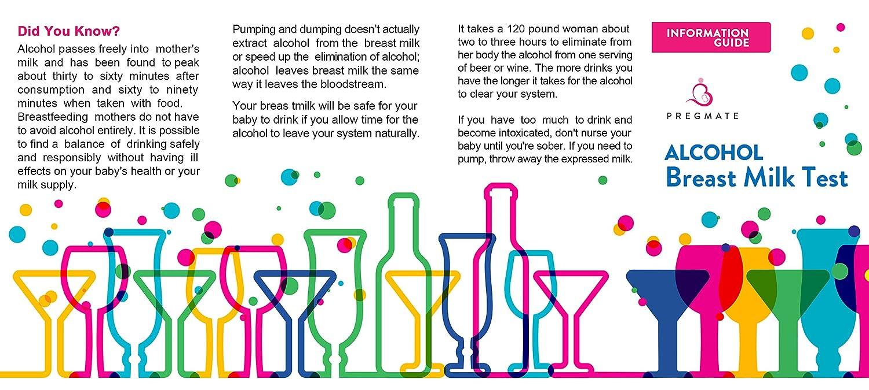 PREGMATE 10 Alcohol Breastmilk Test Strips Breastfeeding Breast Milk Test  (10 Pack)