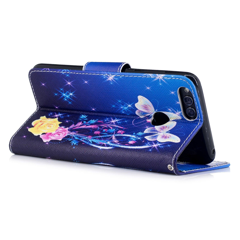 Loto Ooboom/® OnePlus 5T Custodia Flip in Pelle PU Cuoio Copertura Case Cover Wallet Portafoglio Supporto Stand con Carte di Credito e Porta per OnePlus 5T