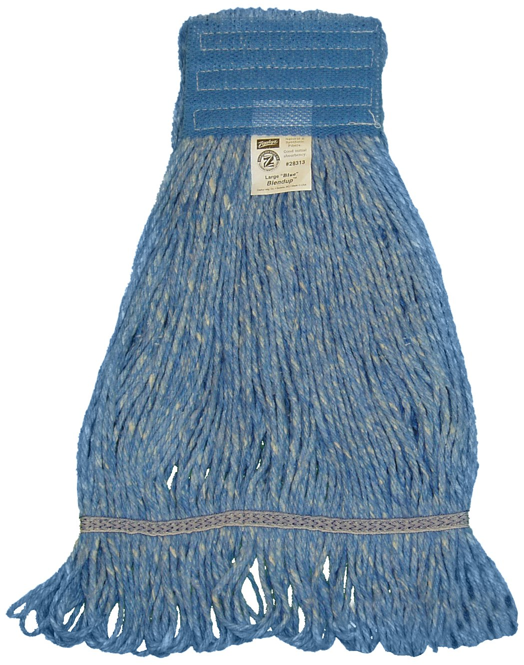 Zephyr 28312 Blendup Blue 4-Ply Yarn Natural and Synthetic Fiber Blended Medium Loop Mop Head (Pack of 12) by Zephyr
