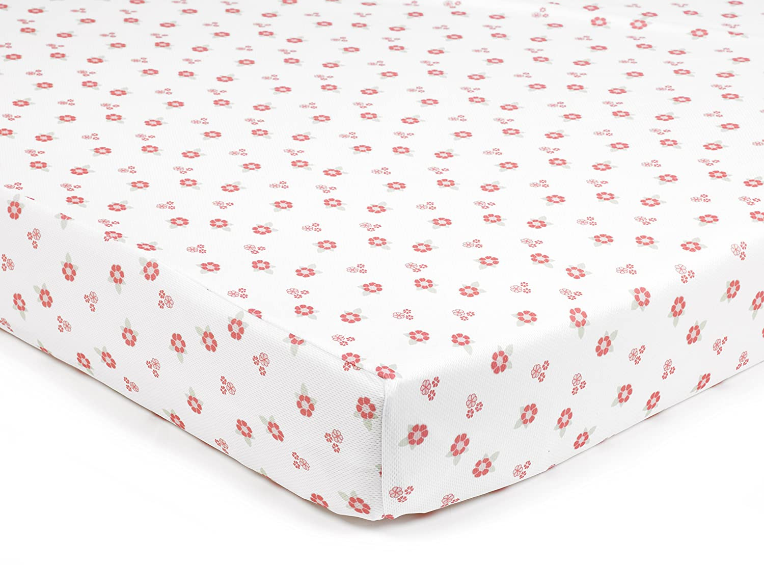 BreathableBaby Super Dry Cot Bed Sheets In English Garden (Pack of 2) ARD38530