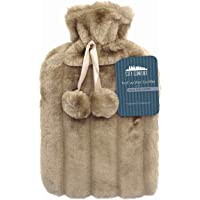 CityComfort 2 Litre Hot Water Bottle with Cosy Fluffy Cover Premium Faux Fur Bag Large 2L