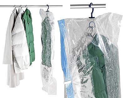 Wenko 3792750100 Sistema de Bolsa Guarda Trajes, Polietileno, 145x70x3 cm