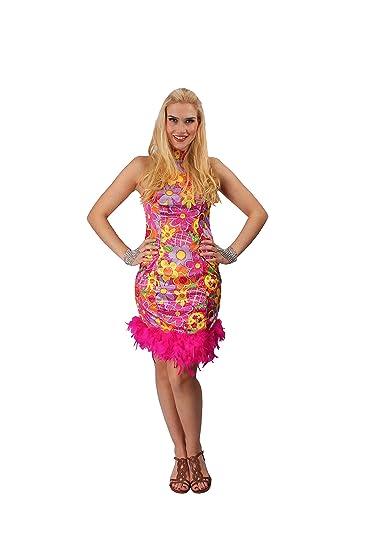 70er Jahre Kleid Buntes Hippie Kostum Fur Damen Grosse 36 38