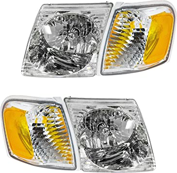 Headlight For 2002 2003 2004 2005 Ford Explorer Right With Bulb