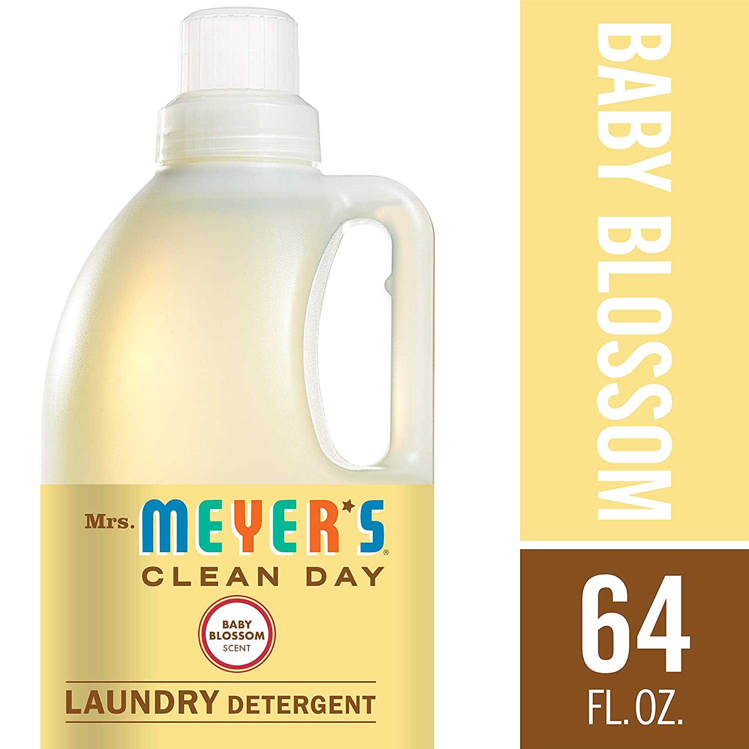 Mrs. Meyer's Clean Day Clean Day Laundry Detergent 2x, Baby Blossom 64 fl oz (1.89 l) Mrs. Meyer's Clean Day thomaswi