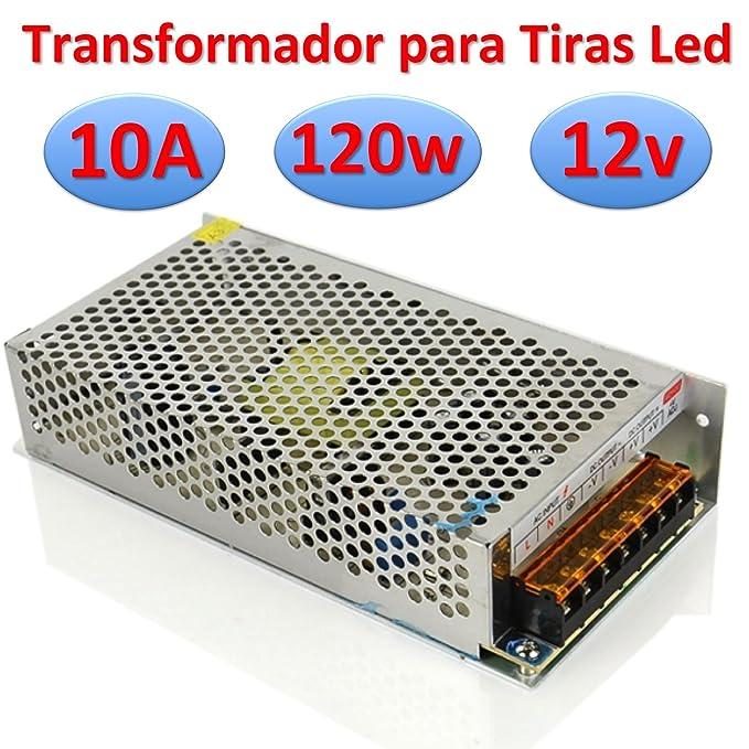 Transformador 12v DC 2A 24w Alimentador para Tiras Led Fuente de Alimentación 220v -> 12v (12v 2A 24w): Amazon.es: Electrónica