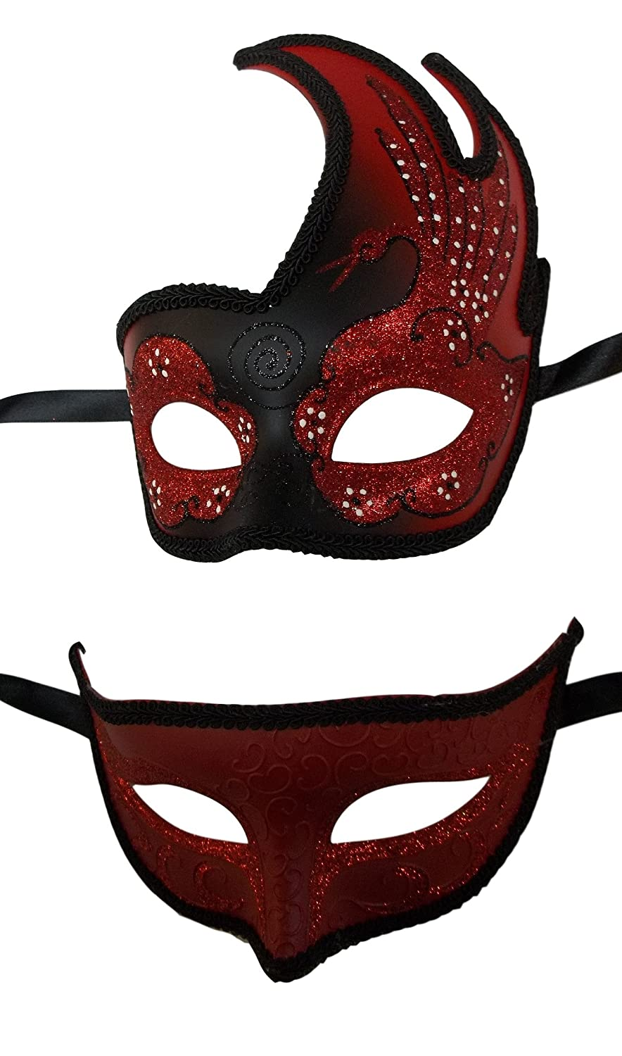 Exceptional MGPS Black Red Masquerade Couples Swan Mask Prom Masks Man Woman At Amazon  Womenu0027s Clothing Store: