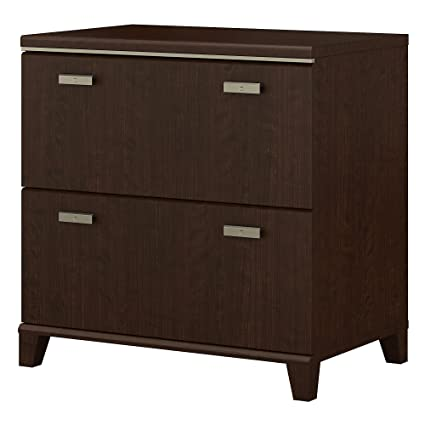 Bush Furniture Tuxedo Lateral File Cabinet In Mocha Cherry