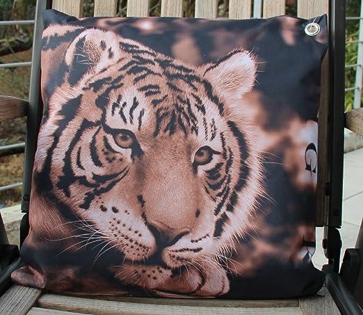 Jardín cojín - Cojín para exteriores - Tiger - 45 x 45 cm ...