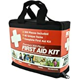 300 Piece (40 Unique Items) First Aid Kit w/ Bag by M2 Basics + FREE First Aid Guide | Emergency Medical Supply | For Home, Office, Outdoors, Car, Camping, Travel, Survival, Workplace