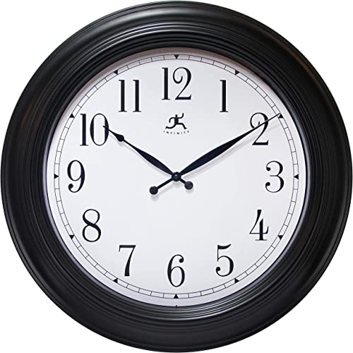 Wall Clock Traditional Oversized Wall Clock 24 inch Decorative Black Easy-to-Read 24 inch Wall Clock