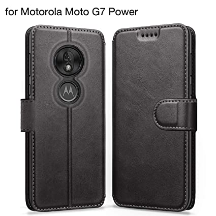 ykooe Case Compatible with Motorola Moto G7 Power, Leather Wallet Flip Case Moto G7 Power Phone Case with Card Slots Protective Cover for Motorola G7 ...