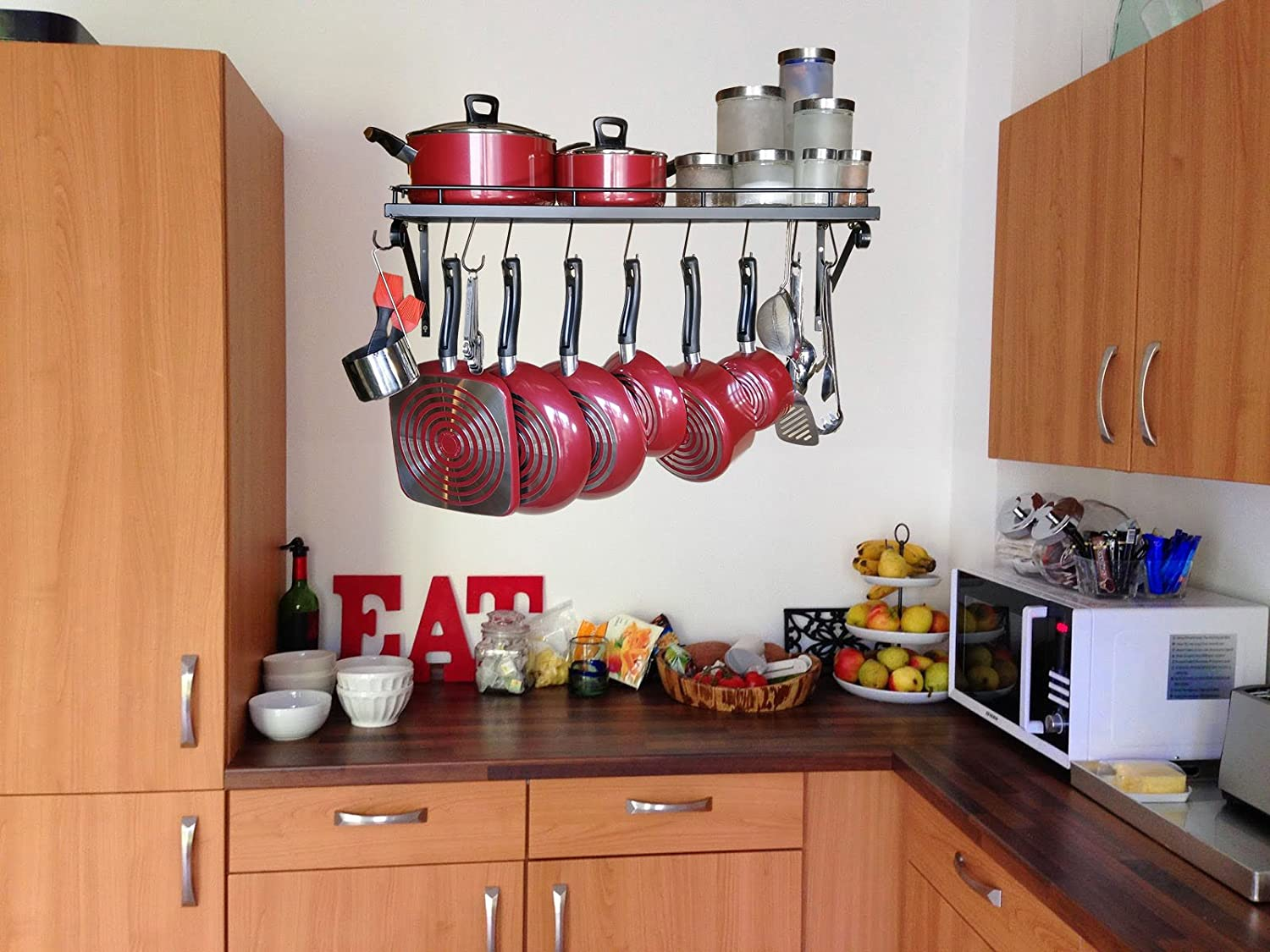 Amazoncom 30 Wall mounted pots and pans