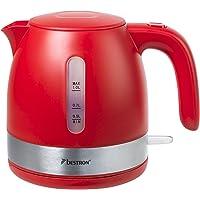 Bestron AWK1000R Design waterkoker 1 liter, 2150 W, rood