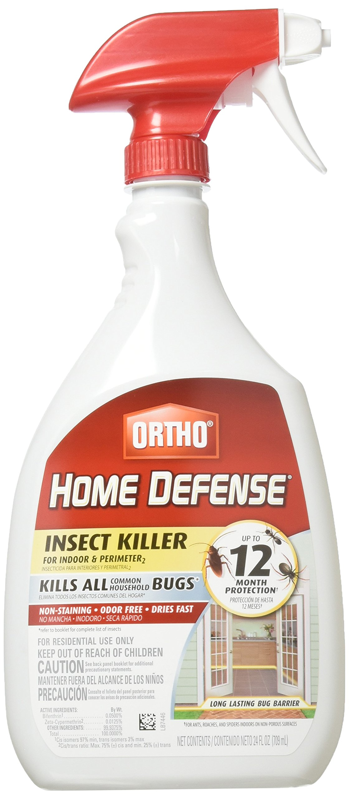 Ortho 0196410 Home Defense MAX Insect Killer Spray for Indoor and Home Perimeter, 24-Ounce (Ant, Roach, Spider, Stinkbug & Centipede Killer)(2Pack) by Ortho