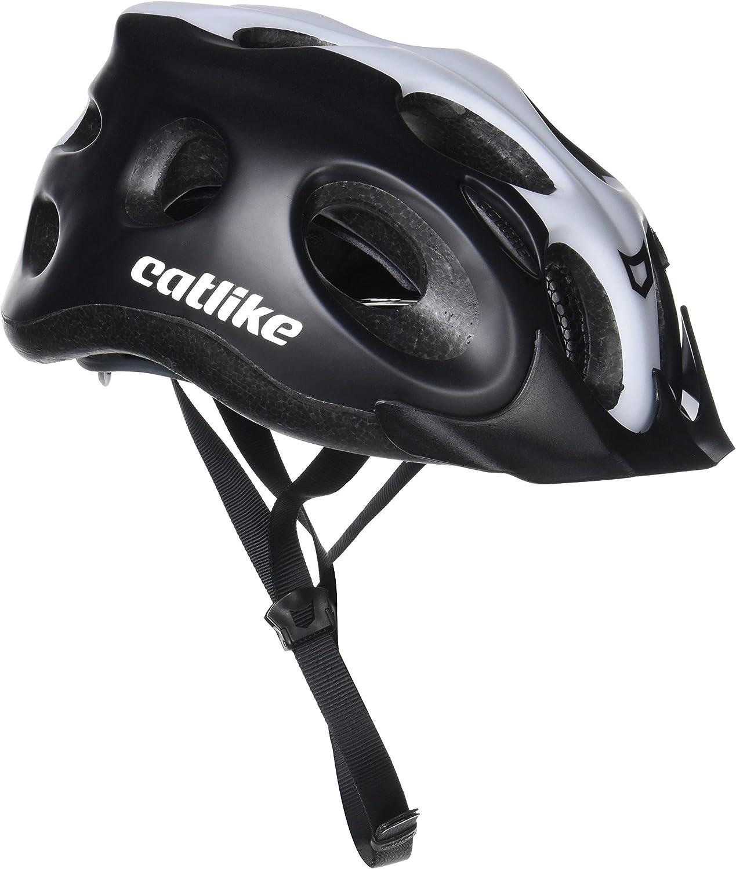 Catlike Tiko Casco de Ciclismo, Unisex Adulto, Negro/Blanco, M/55 ...