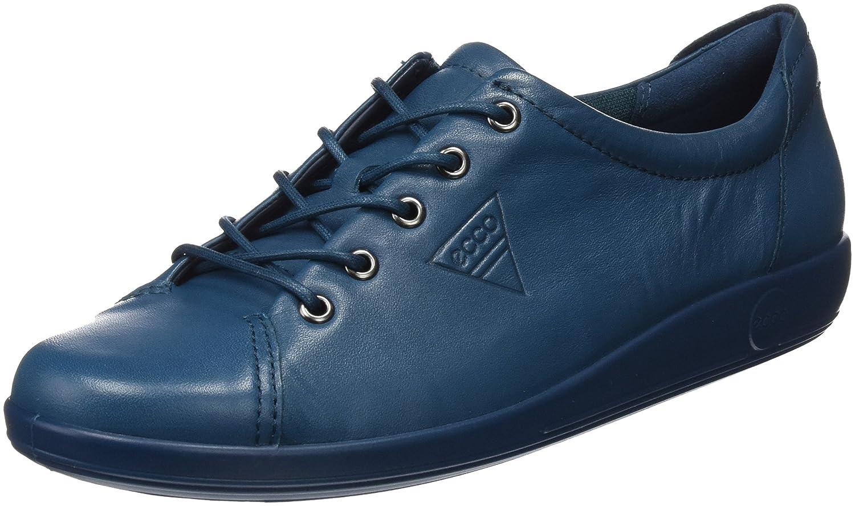 Ecco Soft 2.0, Zapatos de Cordones Derby para Mujer 38 EU|Azul (Dark Petrol)