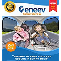 4-Pack Veneev Car Sun Shade for Side and Rear Window