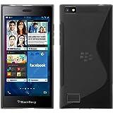 Coque en Silicone pour BlackBerry Leap - S-Style gris - Cover PhoneNatic Cubierta + films de protection
