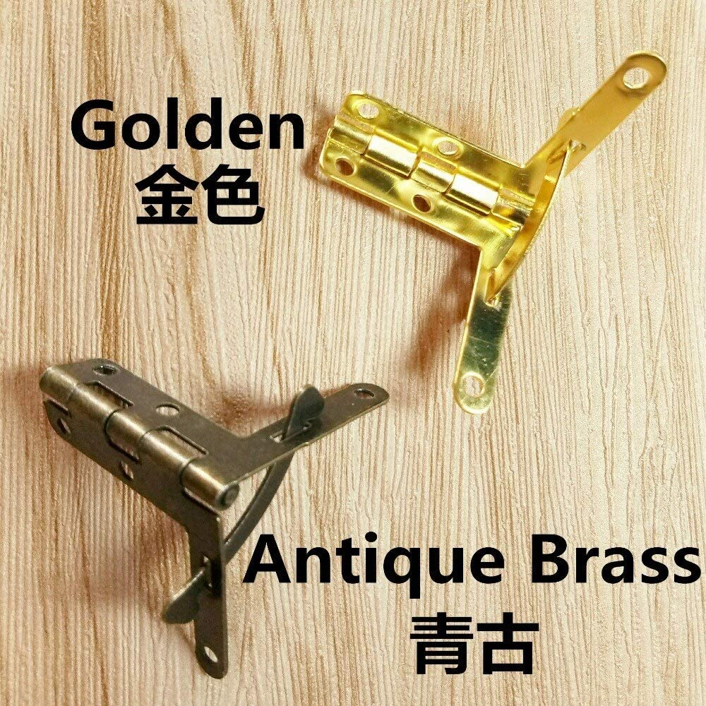 3033mm Antique Brass Color Golden Color Hinge Box Hinge Jack Supporting Hinge Jack Medium Hinge Color: Antique Brass