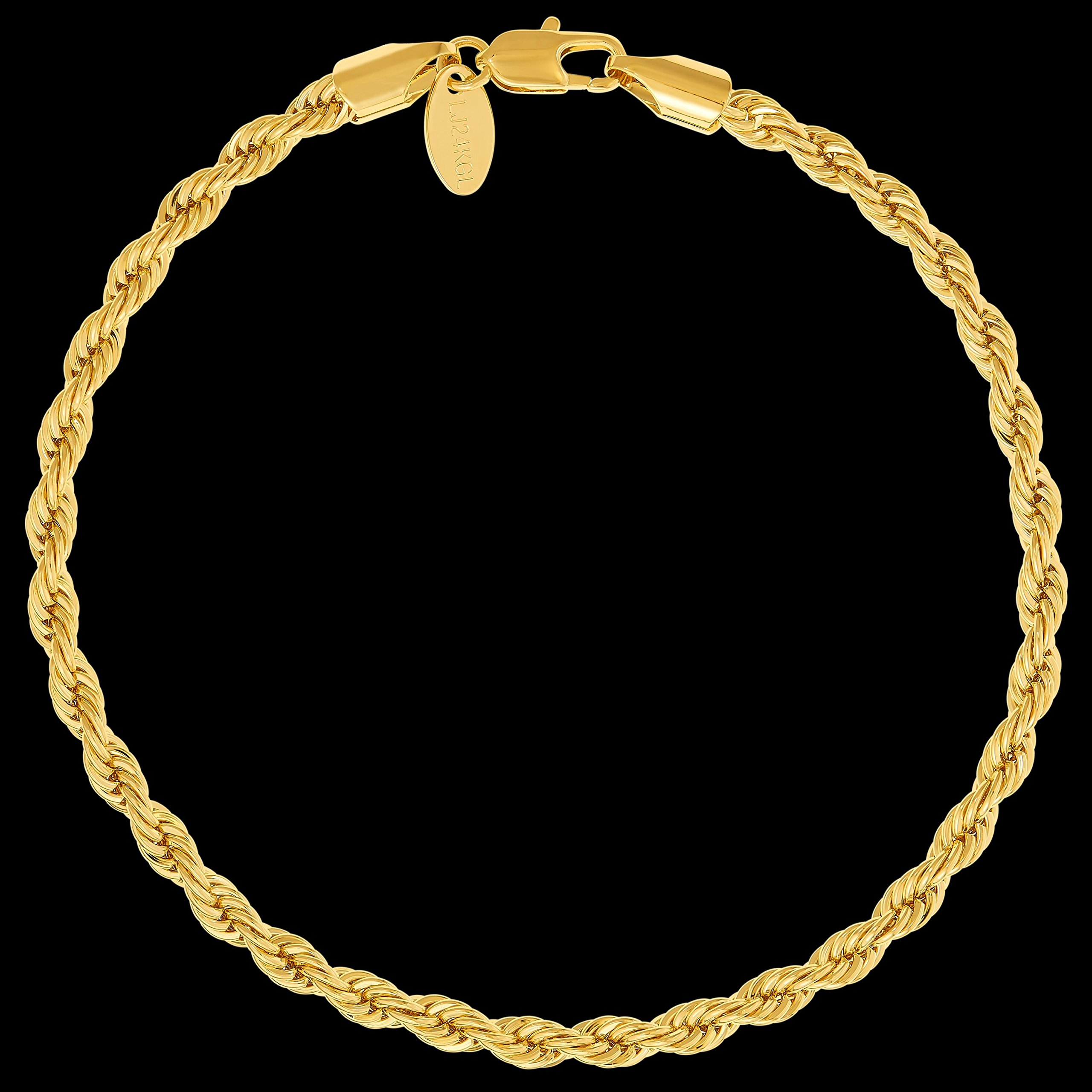 Lifetime Jewelry Rope Bracelet 5MM, Round, 24K Gold with Inlaid Bronze, Premium Fashion Jewelry, Guaranteed for Life, 8 Inches by Lifetime Jewelry (Image #6)