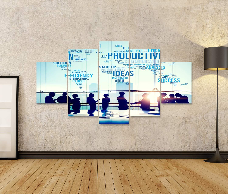 islandburner Quadro Moderno Produttivit/à Visione Idea Idea Efficienza Crescita Efficienza Soluzioni di Successo Concetto di Soluzione Quadri Stampa su Tela Molto Bello e colorato QKV