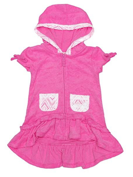 ec0174d969 Amazon.com: Flapdoodles Girls' Terry Hooded Swimsuit Beach Cover Up ...