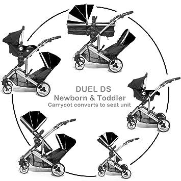 combo doble silla de paseo doble para gemelos cochecito con capazo Recién nacido & bebé, ...