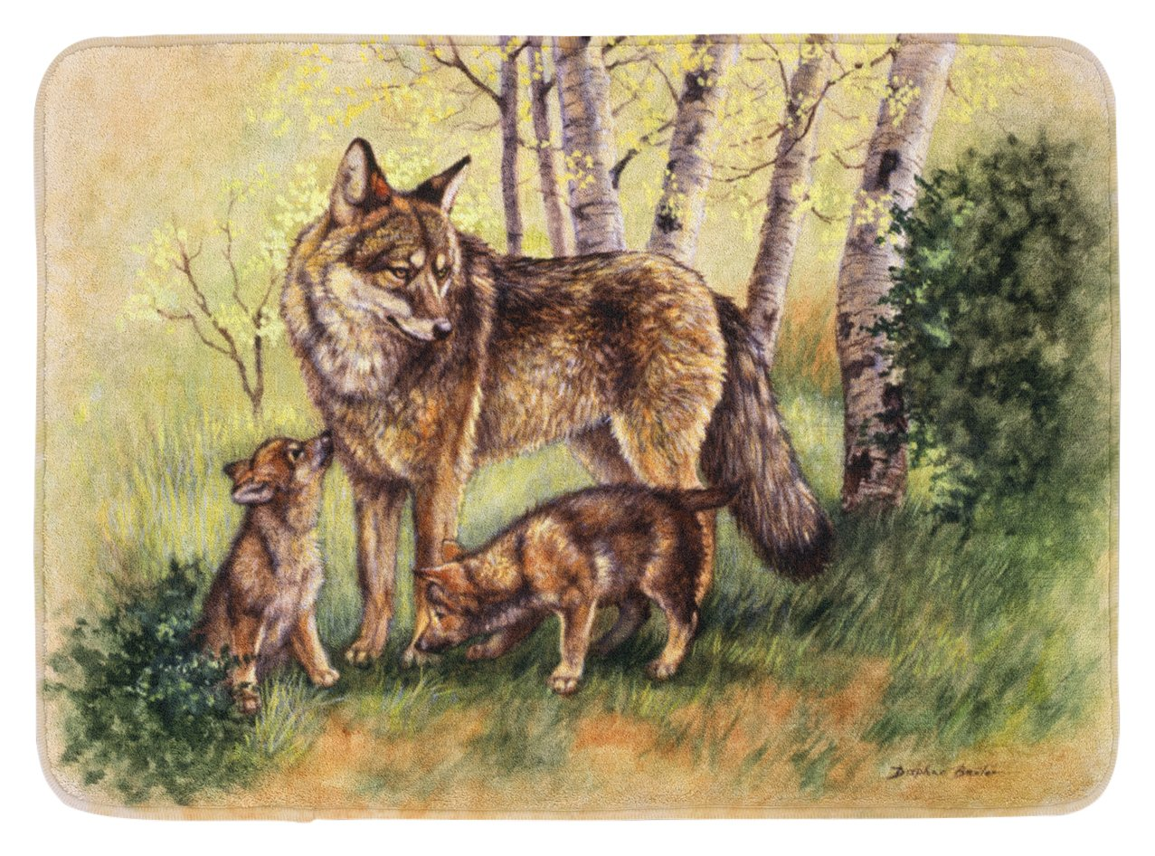 Carolines Treasures Wolf Wolves by Daphne Baxter Floor Mat 19 x 27 Multicolor