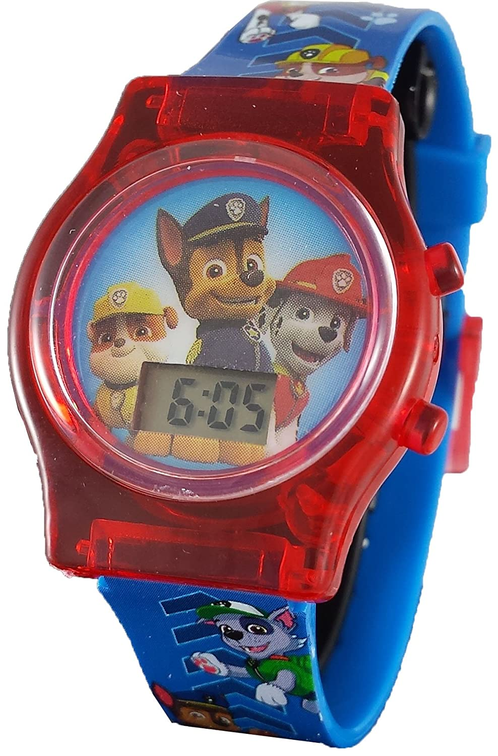 Amazon.com: Paw Patrol Little Kids Digital Watch with Light Up Feature PAW4068: Watches