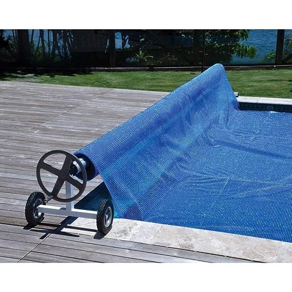 Enrollador de piscina para manta térmica o cobertor solar de ancho ...