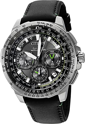 0f917a847f6 Buy Citizen Men s Promaster Navihawk GPS Stainless Steel and Leather Luxury  Watch