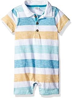 6ca6b1f11 Amazon.com: Baby Boy Short Sleeve Polo Bodysuit: Clothing