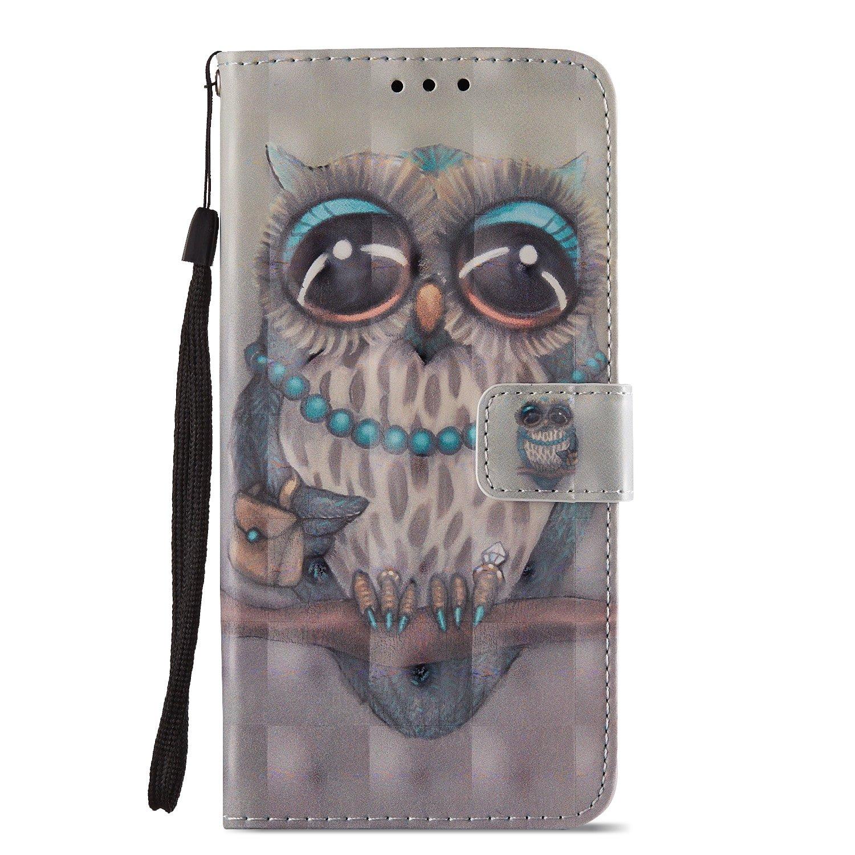 Y7 Pro 2018 Capteur de r/êves Dreamcatcher Cuir PU Wallet Cover TPU Silicone /Étui Portefeuille Flip Case KM-Panda Housse Coque Huawei Honor 7C Y7 Prime 2018