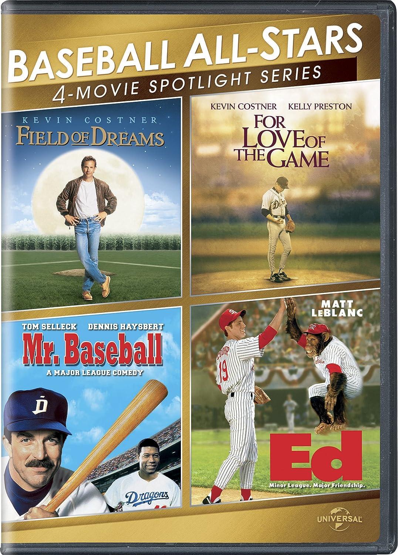 Baseball All-Stars 4-Movie Spotlight Series Kenvin Costner Various Sports