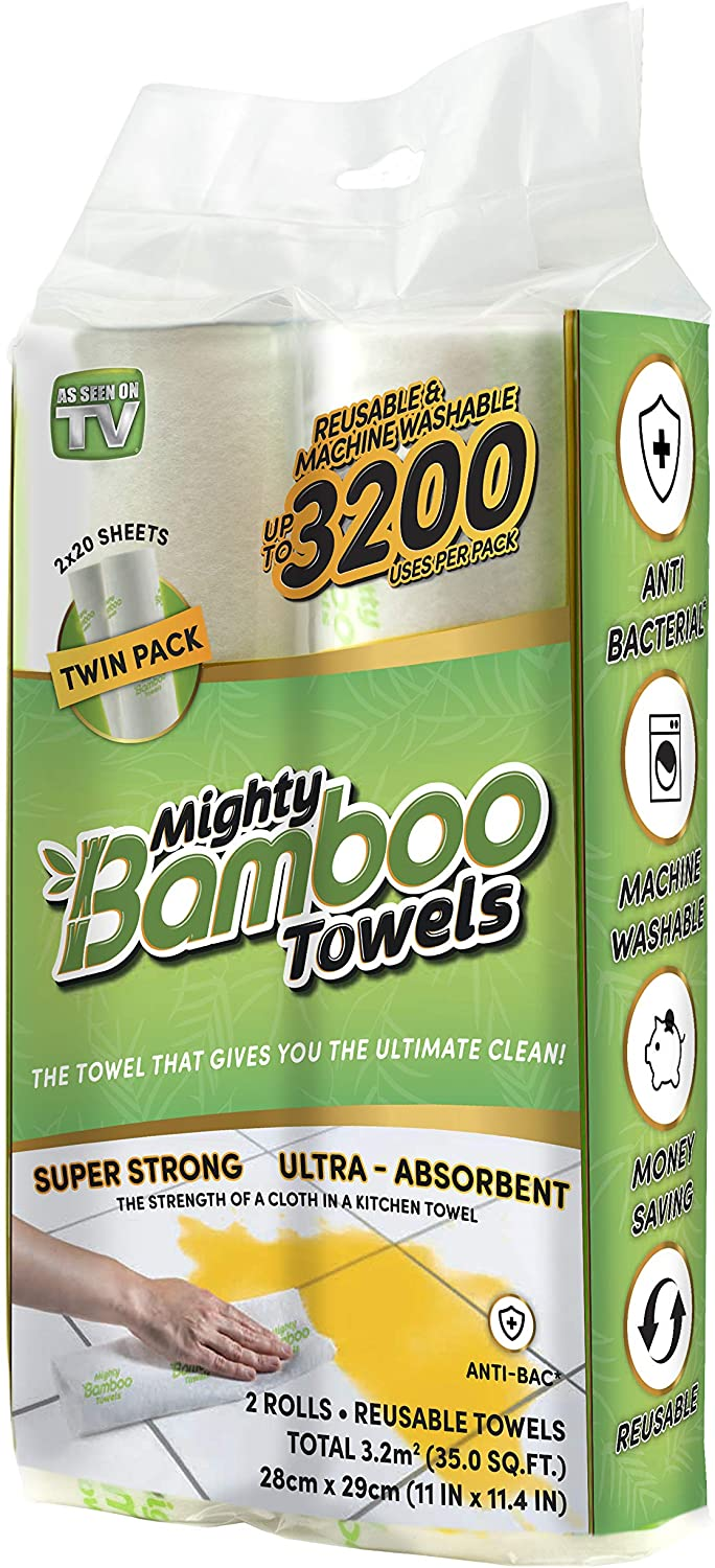 Mighty Bamboo towels offer a high quality highly reusable bamboo towel at a great price point